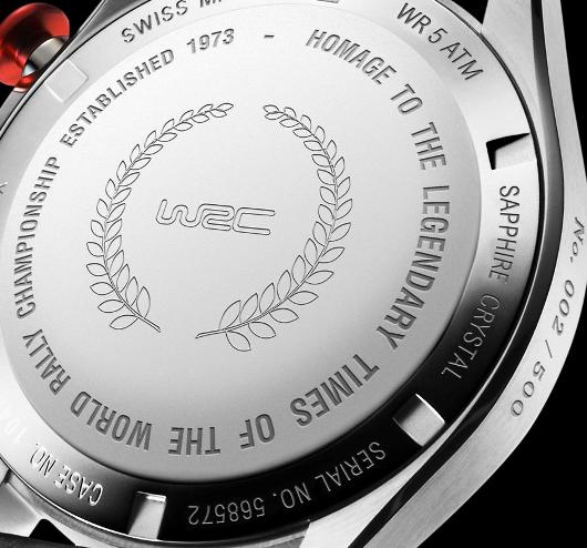 Edox WRC Classic Limited Edition - Caseback View